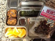 Paleo Pumpkin Muffin, tangerine, Nori(seaweed) chips, PaleoKit*, and dark chocolate!    PaleoKit: http://amzn.to/1173LBr