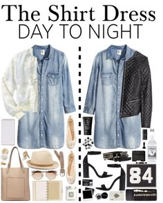 """Day to Night: The Shirt Dress Challenge"" by piccolamarisa on Polyvore"