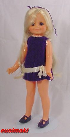 Chrissy Velvet Doll. I loved this doll. You'd pull the hair to make it longer  twist a knob on its back to shorten the hair.