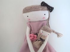 Bella, rag doll with dollie by las sandalias de ana
