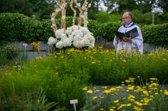 Reverend Dr. Brent Hawkes in the Perennial Border
