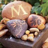 tutorial for paining rocks for garden