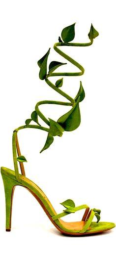 Gorgeous green Nicholas Kirkwood ivy heels