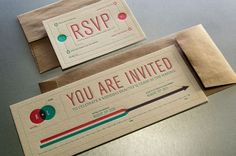 Invites using a info graphic style