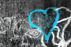 'graffiti heart' photograph placed on canvas. #graffiti