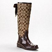 Brown Coach Rain Boots