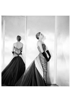 Dress by Charles James. Photo by his former schoolmate Cecil Beaton, 1954.