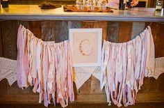 ribbon strand dessert table