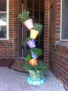 tipsy flower pots