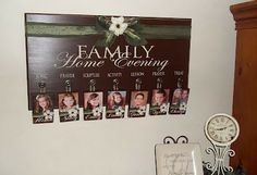 Cher's Signs by Design...this sign is for family activity, but I would make it for my mom to put grandkids photos on. decor, idea, family home evening, cher sign, homes, families, fhe board, evenings, design