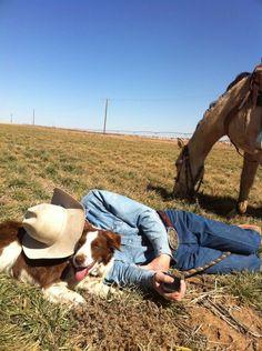 a tired cowboy