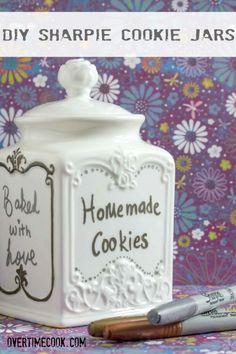 cooki jar, diy design, diy sharpi, strawberries, cookie jars, candi jar, diygreat idea, cookies, diy cooki