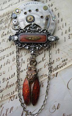 steampunk jewelry  #ecrafty @Kim at eCrafty.com #steampunk #metalsmix