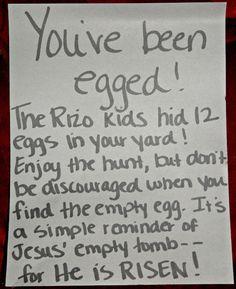 Easter fun - love this idea!