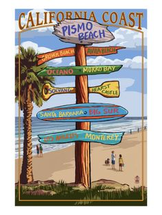 Pismo Beach, California - Destination Sign