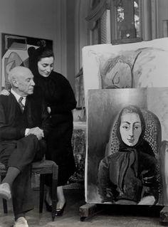 Picasso andJacqueline, 1955