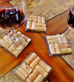 Slate Wine Cork Coasters 20% off now though #cyberMonday 11.29 - 12.02 #etsy #coupon #etsyholidaysale #sale