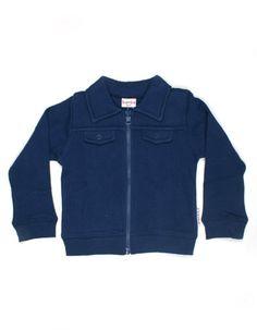 Blauw ritsvestje - Baba Babywear
