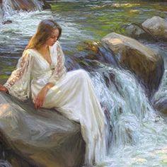 beauti sens, fairi garden, inspir quot, scenic art, beauti girl, finger, fairi tale, mesmer art, escap