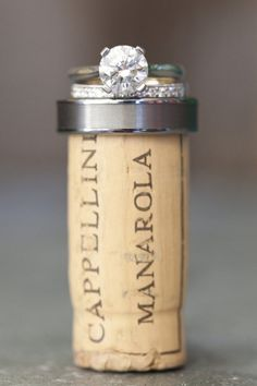 pic w/ the cork from the champagne toast. This would be so cute to hang in your kitchen/wherever you keep your wine!