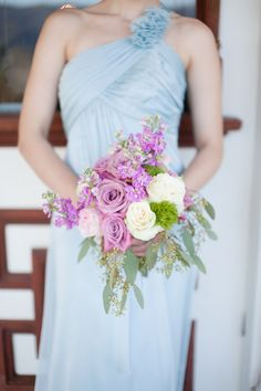 Beautiful purple bouquet for Alice in Wonderland wedding inspiration, Newhall Mansion, Touch of Gold Events, Wisteria Lane Floral Design Studio and Becca Rillo Photography | via junebugweddings.com
