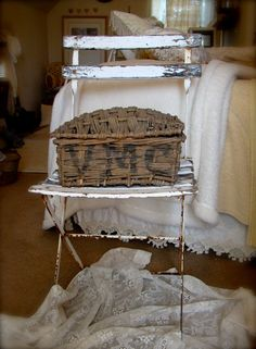 Antique French Basket & Chair