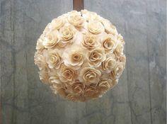 Flower Girl Pomander - Church Aisle Decor - Kissing ball - Rustic