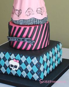 girls monster high birthday cake | Here is a close-up of some of the details.