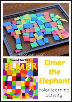 Sugar Aunts: Elmer the Elephant Color Learning Visual Perceptual Activity