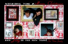 Polly Want A Crafter?: Great Fun Family Christmas Card Idea
