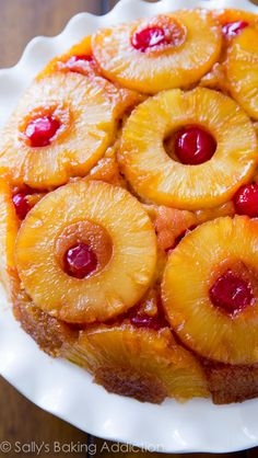 Homemade pineapple upside down cake for Pop's bday party