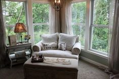 Comfy oversized chair and ottoman