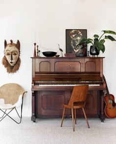 statement piano in a