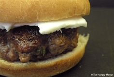 Lamb sliders with feta cheese