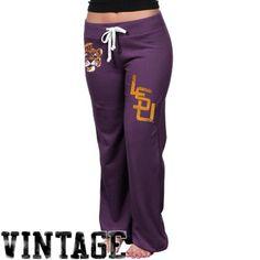 LSU Tigers Womens Relaxed Sweatpants - Purple