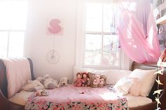 COCOCOZY: kids rooms bedding, sleigh beds, at home, room layouts, cozy bedroom, pink rooms, kid rooms, girl bedrooms, little girl rooms