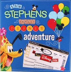 The Stephens Family Disney Adventure - Scrapbook.com