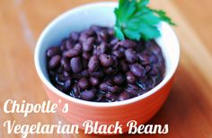 Black beans--will make this in the crockpot with beans from a bag, might spice it up.  Pinned for ideas...