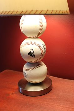 Baseball Table Lamp.  Great how to instructions!