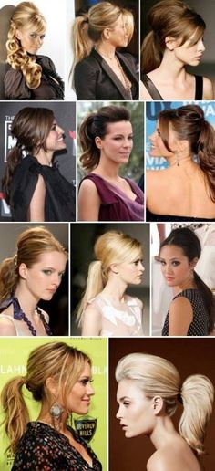 Ideas for pony tail hairstyles!
