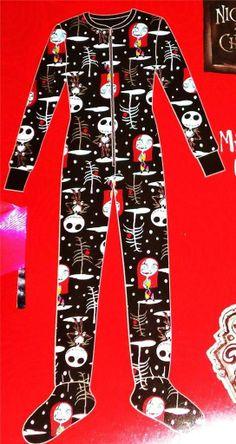 Nightmare before christmas footed pajamas