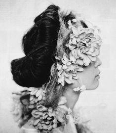 black and white. head piece.