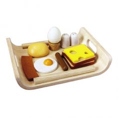Made with safe, non-toxic paints and wood, this is a terrific set of toys to play imaginary breakfast, without the worry of ingesting chemicals. $24.95 #mightynest