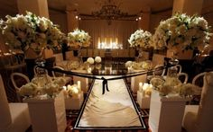 Beautiful set up for wedding ceremony