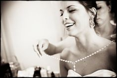 A gorgeous, classy bride. Photo by Photographer Derek Jenkins. #weddingphotography #beautiful #bride #pearls #classy