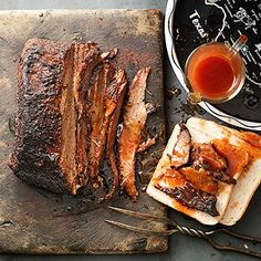 texas beef brisket with spicy sauce