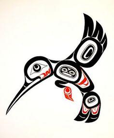 haida art, nativ american, american hummingbird, native americans, nativ art