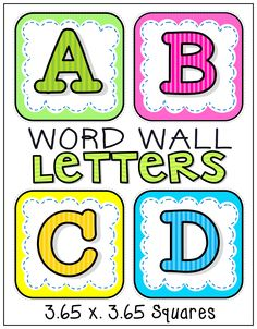 Alphabet Word Wall Letters (A-Z)