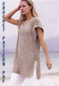 Crochet tunic Pattern PDF                              ᒲ Teresa Restegui ᒷ http://www.pinterest.com/teretegui/