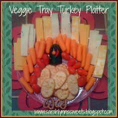 Thanksgiving: Veggie Tray Turkey